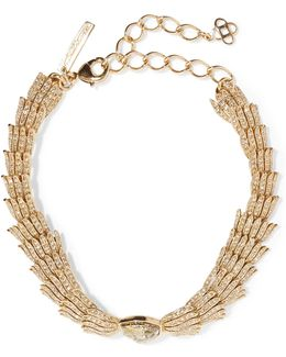Wistera Gold-tone Crystal Necklace