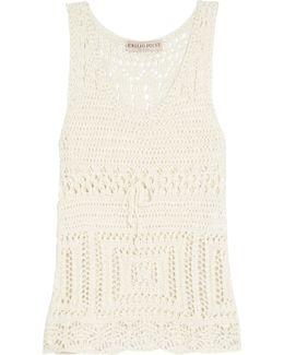 Open-knit Cotton Tank