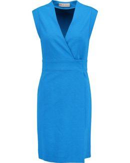 Wrap-effect Twill Dress