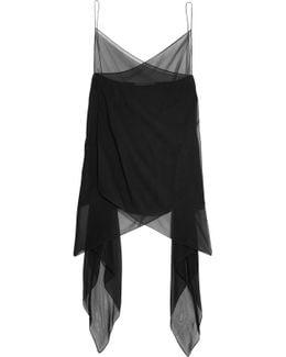 Asymmetric Silk-crepe Camisole