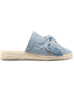 Lynda Denim Espadrille Slippers