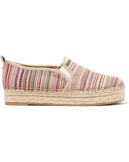 Carrin Striped Canvas Espadrilles