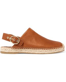 Jazzy Leather Espadrilles