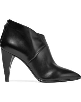 Dree Shark Tooth Leather Ankle Boots