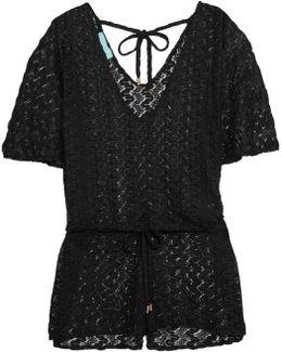 Alyna Crochet-knit Playsuit