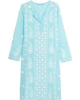 Tanya Embroidered Voile Coverup