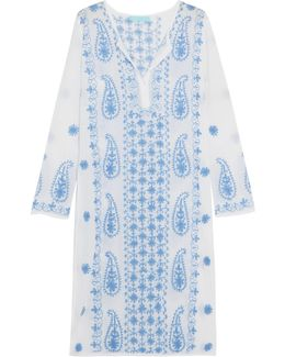 Tanya White Embroidered Beach Dress