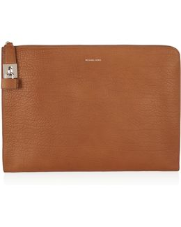 Textured-leather Clutch