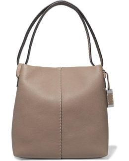 Slouchy Hobo Textured-leather Shoulder Bag