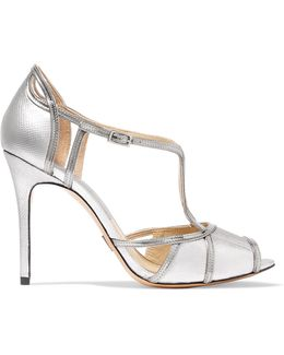 Caryn Metallic Textured-leather Sandals