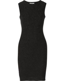 Desert Oasis Crochet-paneled Jersey Mini Dress