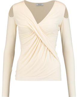 Angela Draped Stretch-jersey Top