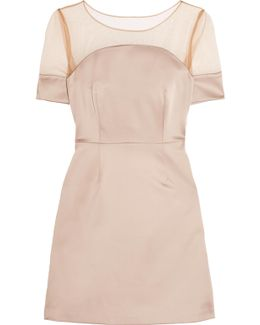 Tulle And Satin Mini Dress