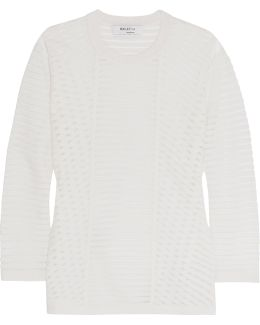 Reservoir Mesh And Stretch-knit Sweater