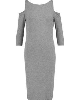 Shoulder Cutout Jersey Dress