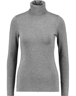 Farrah Stretch-jersey Turtleneck Top