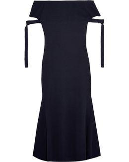Off-the-shoulder Stretch-knit Maxi Dress