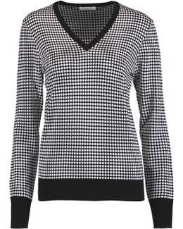 Cecile Intarsia-knit Silk Sweater