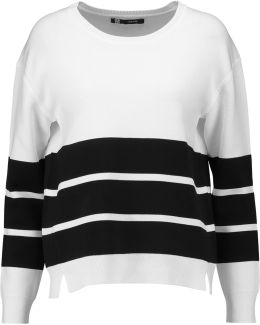 Aliso Striped Stretch-knit Sweater