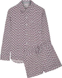 Printed Satin Pajama Set
