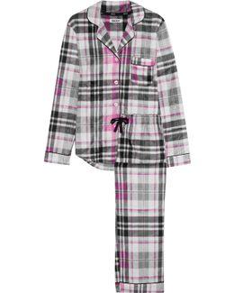 Striped Fleece Pajama Set