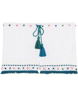 Pia Fringed Embellished Crocheted Shorts