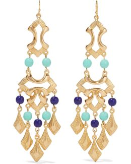 Gold-plated Bead Earrings