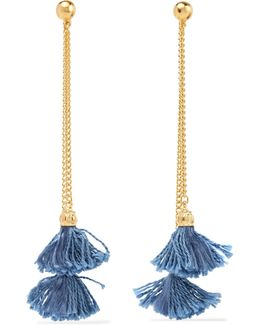 Gold-plated Tassel Earrings