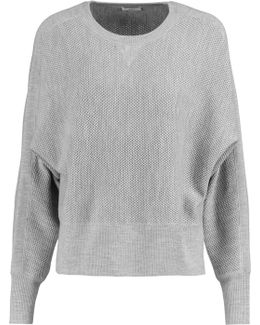 Waffle-knit Wool And Silk-blend Sweater