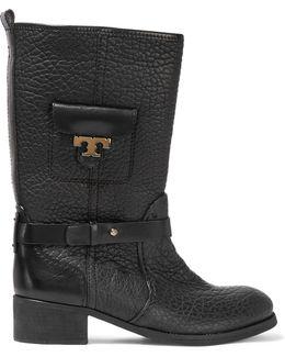Leona Textured-leather Boots