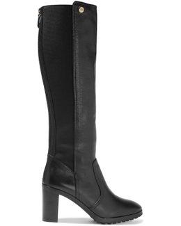 Sullivan Textured-leather Knee Boots