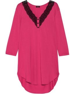 Perugia Lace-trimmed Pima Cotton And Modal-blend Nightdress