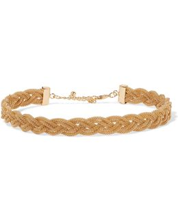 Braided Gold-tone Choker