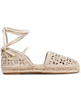 Darci Broderie Anglaise Canvas Espadrilles