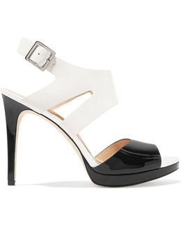 Claudia Two-tone Leather Sandals