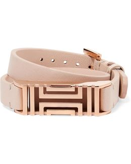 + Fitbit Fret Leather Wrap Bracelet