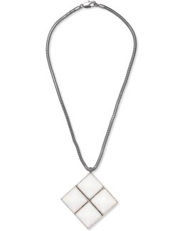 Silver-tone Enamel Necklace