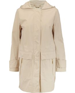 Cotton-blend Shell Hooded Coat