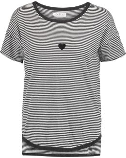 Stripped Cotton-jersey Top
