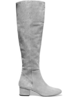 Jennifer Suede Knee Boots