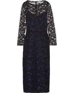 Cotton-blend Lace Midi Dress