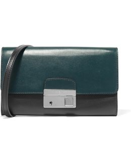 Gia Two-tone Leather Clutch