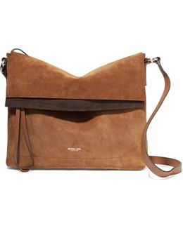 Sedona Leather-trimmed Suede Shoulder Bag