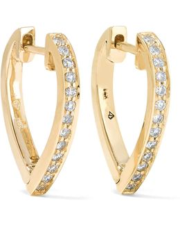 Huggies 14-karat Gold Stone Earrings