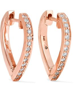 Huggies 14-karat Rose Gold Stone Earrings