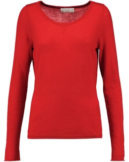 Cutout Embroidered Cashmere Sweater