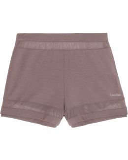 Mesh-paneled Stretch-modal Shorts