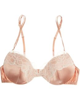 Sublime Ribelle Silk-blend Satin And Lace Contour Bra