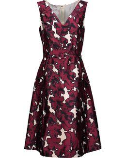 Floral-print Silk-twill Dress