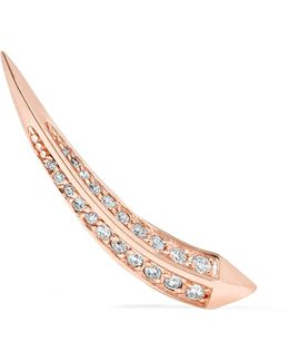Unicorn 14-karat Rose Gold Stone Earring